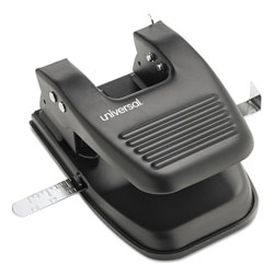 Universal Office Products 30-Sheet Two-Hole Punch, 9/32 in Holes, Black