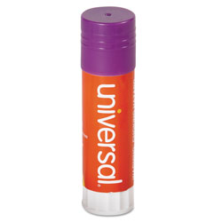 Universal Office Products Glue Stick, 1.3 oz, Applies Purple, Dries Clear, 12/Pack