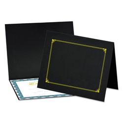 Universal Certificate/Document Cover, 8 1/2 x 11 / 8 x 10 / A4, Black, 6/PK