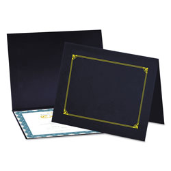Universal Office Products Certificate/Document Cover, 8 1/2 x 11 / 8 x 10 / A4, Navy, 6/Pack