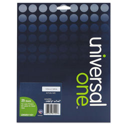 Universal Office Products Deluxe Clear Labels, Inkjet/Laser Printers, 0.5 x 1.75, Clear, 80/Sheet, 25 Sheets/Box