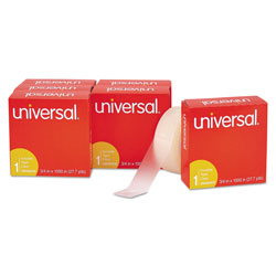 Universal Office Products Invisible Tape, 1 in Core, 0.75 in x 83.33 ft, Clear, 6/Pack