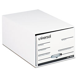 Universal Office Products Economy Storage Drawer Files, Legal Files, White, 6/Carton