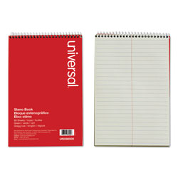 Universal Office Products Steno Books, Gregg Rule, 6 x 9, Green Tint, 80 Sheets