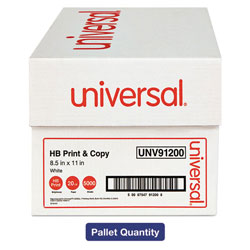 Universal Office Products Multipurpose Paper, 95-96 Bright, 20 Lb, 8 1/2 X 11, White, 40 Cartons/pallet