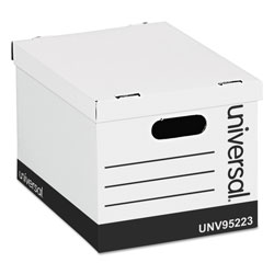 Universal Basic-Duty Easy Assembly Storage Files, Letter/Legal Files, White, 12/Carton