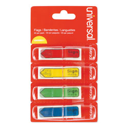 Universal Office Products Deluxe Message Arrow Flags,  inSign Here in, Assorted Colors, 120/Pack