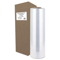 Universal Office Products Machine Stretch Film, 20 in x 5000 ft, 20.3mic, Clear