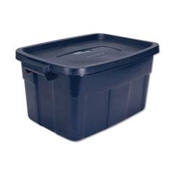 Rubbermaid Roughneck Storage Box, 15 7/8w x 23 7/8d x 12 1/4h, Dark Indigo Metallic