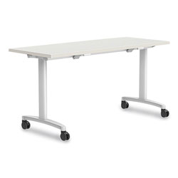 Union & Scale™ Workplace2.0 Nesting Training Table, Rectangular, 24 x 29.5 x 60, Silver Mesh