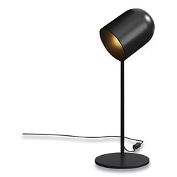 Union & Scale™ Essentials LED Plated Table Lamp, Adjustable Neck, 17.7 in h, Black