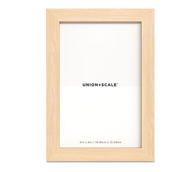 Union & Scale™ Essentials Wood Picture Frame, 4 x 6, Natural Frame