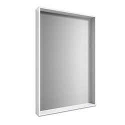 Union & Scale™ Plastic Frame Wall Mirror, Rectangular, White Frame, 30.78 x 4.96 x 41.5