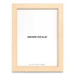 Union & Scale™ Essentials Wood Picture Frame, 5 x 7, Natural Frame