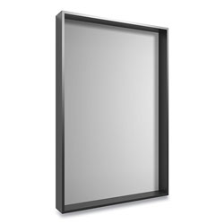 Union & Scale™ Plastic Frame Wall Mirror, Rectangular, Black Frame, 30.78 x 4.96 x 41.5