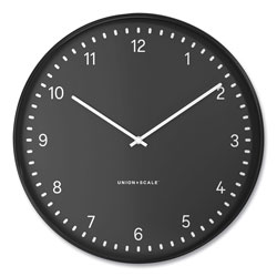Union & Scale™ Essentials Contemporary Round Wall Clock, 15 in Overall Diameter, Black Case, 1 AA (Sold Separately)