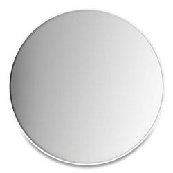 Union & Scale™ Aluminum Frame Wall Mirror, Round, White Frame, 31.5 in dia