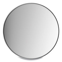 Union & Scale™ Aluminum Frame Wall Mirror, Round, Black Frame, 31.5 in dia