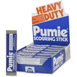 United-States-Pumice-Company Scouring Pumice Stick, 6 in x 3/4 in x 1-1/4 in, 6PK/CT, Gray