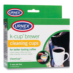 Urnex CleanCup Coffee Pod Brewer Cleaning Cups, 0.25 oz Cup, 5/Pack