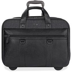 Solo Bradford Rolling Case, 17.3 in, 17 3/4 x 6 1/4 x 14, Black