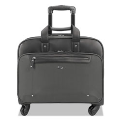 Solo Gramercy Rolling Case, 10.25 in x 15.62 in x 15.62 in, Polyester, Gray