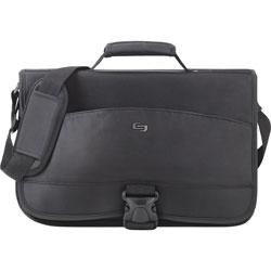 Solo Messenger Bag, 15.6 in Laptop Pocket, 3-1/10 inWx17 inLx12-1/2 inH, Black