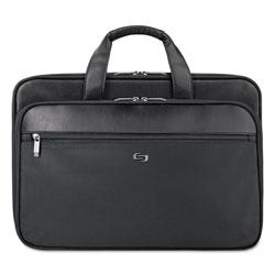 Solo Classic Smart Strap Briefcase, 16 in, 17 1/2 in x 5 1/2 in x 12 in, Black