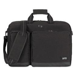 Solo Urban Hybrid Briefcase, 5 in x 17.25 in x 17.24 in, Polyester, Black