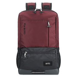 Solo Draft Backpack, 6.25 in x 18.12 in x 18.12 in, Nylon, Burgundy