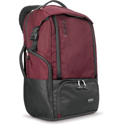 Solo Backpack, Padded, 7 inWx12-1/2 inLx20-1/2 inH, Burgundy