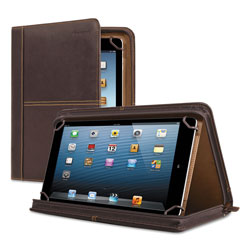 Solo Premiere Leather Universal Tablet Case, Fits Tablets 8.5 in up to 11 in, Espresso