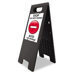 U.S. Stamp & Sign Floor Tent Sign, Doublesided, Plastic, 10 1/2 in x 25 1/2 in, Black
