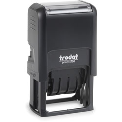 U.S. Stamp & Sign Trodat Economy 5-in-1 Stamp, Dater, Self-Inking, 1.63 x 1, Blue/Red