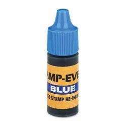 U.S. Stamp & Sign Refill Ink for Clik! & Universal Stamps, 7ml-Bottle, Blue