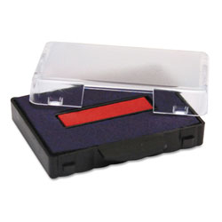 U.S. Stamp & Sign T5440 Dater Replacement Ink Pad, 1 1/8 x 2, Blue/Red