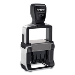 U.S. Stamp & Sign Trodat Professional Stamp, Dater, Self-Inking, 1 5/8 x 3/8, Black
