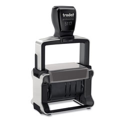 U.S. Stamp & Sign Trodat Professional 12-Message Stamp, Dater, Self-Inking, 2.25 x 0.38, Black
