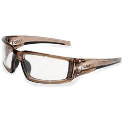 Unimed-Midwest Hypershock Safety Eyewear, Sport-Inspired, Brown
