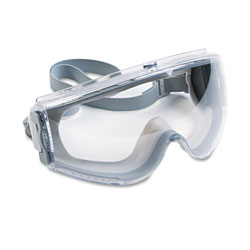 Uvex Safety Stealth Antifog, Antiscratch, Antistatic Goggles, Clear Lens, Gray Frame