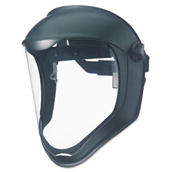 Uvex Safety Bionic Face Shield, Matte Black Frame, Clear Lens