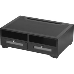 Victor Wood Printer Stand, 21-4/5 in x 15 in x 7-4/5 in, Midnight Black