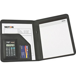 Victor Portfolio Pad Holder with 8 Digit CalculatorBlack