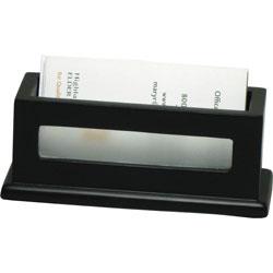 Victor Business Card Holder, 4-5/16 in x 1-5/8 in x 1-13/16 in, MDBK