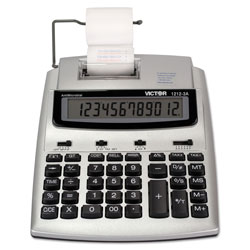 Victor 1212-3A Twelve Digit Two Color Portable Print/Display Calculator