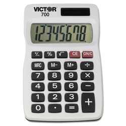 Victor 700 Pocket Calculator, 8-Digit LCD