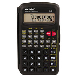 Victor 920 Compact Scientific Calculator with Hinged Case,10-Digit, LCD
