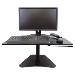 Victor High Rise Adjustable Stand-Up Desk, 28w x 23d x 16.75h, Black