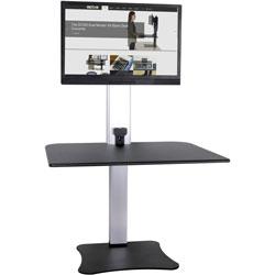 Victor High Rise Electric Standing Desk Workstation, Black/Aluminum