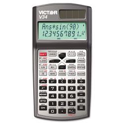 Victor V34 Advanced Scientific Calculator, 10-Digit LCD
